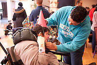 Chicago Public School students volunteer at Misercordia in Chicago for Chicago Cares MLK Celebration of Service day.
