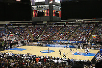 SACRAMENTO, CA - MARCH 29: The Arena during Stanford's 55-53 win over Xavier in the NCAA Women's Basketball Championship Elite Eight on March 29, 2010 at Arco Arena in Sacramento, California.