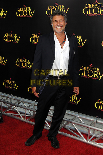 "Steven Bauer.""For Greater Glory"" Los Angeles Premiere held at the AMPAS Samuel Goldwyn Theater, Beverly Hills, California, USA..May 31st, 2012.full length black white shirt suit beard facial hair .CAP/ADM/BP.©Byron Purvis/AdMedia/Capital Pictures."