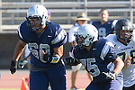 Torrance, CA 09/05/13 - \nj60\ and Austin Faulhaber  (North #75) in action during the Peninsula vs North Junior Varsity football game played at North High School in Torrance, California.