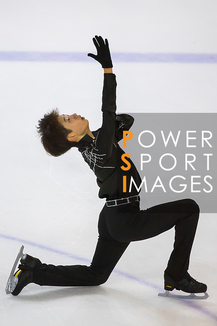Jae Seok Kyeong of Korea competes in Junior Men group during the Asian Open Figure Skating Trophy 2017 at Mega Ice on 03 August, 2017 in Hong Kong, China. Photo by Yu Chun Christopher Wong / Power Sport Images