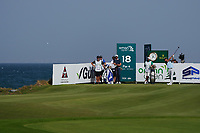 Adrien Saddier (FRA) on the 18th during Round 4 of the Oman Open 2020 at the Al Mouj Golf Club, Muscat, Oman . 01/03/2020<br /> Picture: Golffile | Thos Caffrey<br /> <br /> <br /> All photo usage must carry mandatory copyright credit (© Golffile | Thos Caffrey)