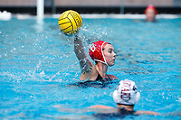 Stanford, CA - March 23, 2019: Cassidy Wiley during the Stanford vs. Harvard women's water polo game at Avery Aquatic Center Saturday.<br /> <br /> The Cardinal won 20-7.