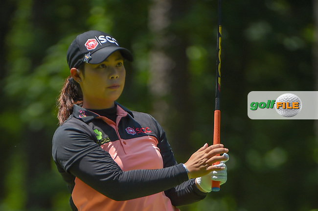 Moriya Jutanugarn (THA) watches her tee shot on 2 during round 1 of the U.S. Women's Open Championship, Shoal Creek Country Club, at Birmingham, Alabama, USA. 5/31/2018.<br /> Picture: Golffile | Ken Murray<br /> <br /> All photo usage must carry mandatory copyright credit (© Golffile | Ken Murray)