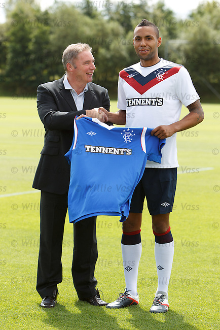 Ally McCoist welcomes Kyle Bartley back to Rangers