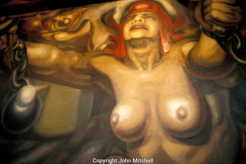 Detail of La Nueva Democracia, a mural by David Alfaro Siqueiros in the Palacio de Bellas Artes, Mexico City