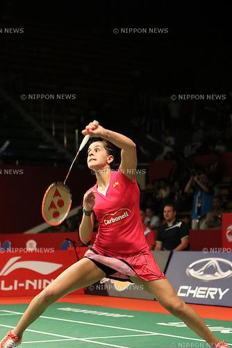 Carolina Marin (ESP), AUGUST 11, 2015 - Badminton : BWF World Championships 2015 women's singles match in Jakarta, Indonesia. (Photo by Toshihiro Kitagawa/AFLO)