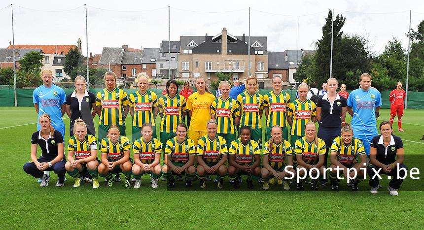 ADO Den Haag Dames : ploegfoto 2012 - 2013.foto DAVID CATRY / Vrouwenteam.be