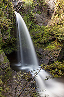 Waterfall along the  Pipiwai hiking trail, Haleakala National Park, Kipahulu, Maui