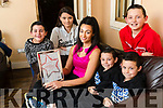 Catherine Wall, Abbeydorney, has lost six and a half stone and is in the final of the Slimming World Woman of the Year Competition, pictured with her children, Joseph, Mary Kate, Twins Ciaran and Sean and Tommy, Missing from photo is son Padraig and husband Pat O'Connor.