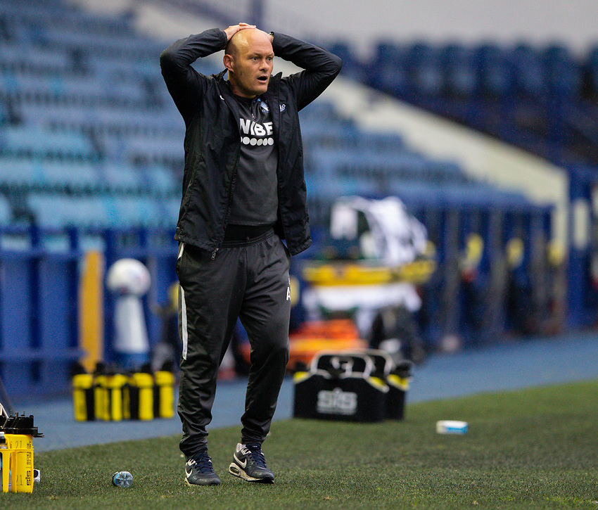 Preston North End manager Alex Neil reacts to a missed opportunity<br /> <br /> Photographer Alex Dodd/CameraSport<br /> <br /> The EFL Sky Bet Championship - Sheffield Wednesday v Preston North End - Wednesday 8th July 2020 - Hillsborough - Sheffield<br /> <br /> World Copyright © 2020 CameraSport. All rights reserved. 43 Linden Ave. Countesthorpe. Leicester. England. LE8 5PG - Tel: +44 (0) 116 277 4147 - admin@camerasport.com - www.camerasport.com