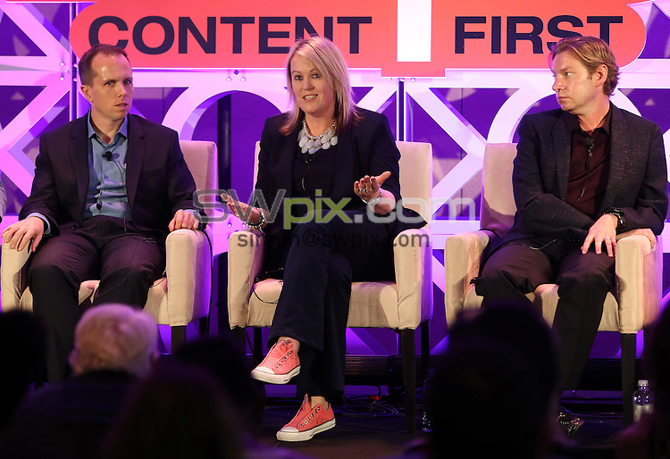 Picture by Vaughn Ridley/SWpix.com - 19/20/21 01/2016 - Natpe Miami 2016, Eden Roc and Fountainebleau hotels South Beach<br /> Robert Mills, Kate Phillips and Justin Rosenblatt speak during a NATPE Reality session.<br /> copyright picture - Simon Wilkinson - simon@swpix.com