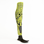 ProstheticLeg Covers, ca. 2011; Designed and manufactured by McCauley Wanner (Canadian, born 1986) and Ryan Palibroda (Canadian, born 1980) for Alleles Design Studio (Victoria, British Columbia, Canada, founded 2013); Digitally fabricated ABS plastic, polyurethane straps, metal hooks. Photo courtesy of The ALLELES Design Studio Ltd.