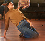Veronica Forman (Jenny Reefer) in a dance at an Open Rehersal of the opera, The Mother of Us All, at the Hudson Opera House, in Hudson, NY, on Friday, October 27, 2017. Photo by Jim Peppler. Copyright/Jim Peppler-2017.