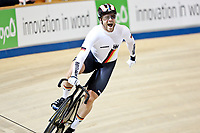 Picture by SWpix.com - 03/03/2018 - Cycling - 2018 UCI Track Cycling World Championships, Day 4 - Omnisport, Apeldoorn, Netherlands - Men's Sprint Quarterfinals -  Maximilian Levy of Germany celebrates