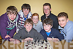 Knight takes Bishop members of the new Killarney KDYS chess club enjoying a game on Tuesday evening front row l-r: Danny Cronin, James Lynch. Back row: Anthony Chirdedschin, Ashley Campion, Meagan Cronin, Conor Slattery and Alexander Maunsell