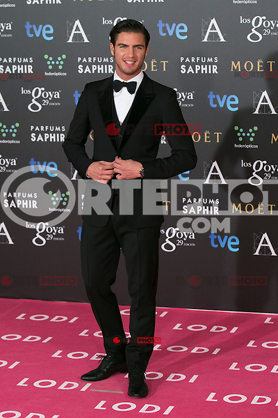 Maxi Iglesias attend the 2015 Goya Awards at Auditorium Hotel, Madrid,  Spain. February 07, 2015.(ALTERPHOTOS/)Carlos Dafonte) /NORTEphoto.com
