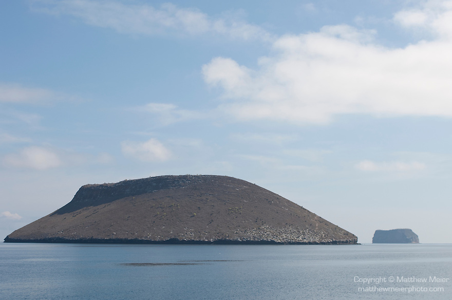 Daphne Major Island and Daphne Minor Island, Galapagos, Ecuador; Daphne Major Island and Daphne Minor Island viewed from the Sea Finch boat while crossing from Santa Cruz Island to Bartolome Island , Copyright © Matthew Meier, matthewmeierphoto.com All Rights Reserved