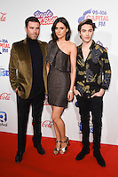 Dave Berry, Lilah Parsons and George Shelley<br /> at the Jingle Bell Ball 2016, O2 Arena, Greenwich, London.<br /> <br /> <br /> &copy;Ash Knotek  D3208  03/12/2016