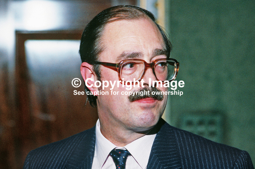 Frank Woods, press officer, N Ireland Office, Stormont Castle, N Ireland, 19850038FW.<br /> <br /> Copyright Image from Victor Patterson, 54 Dorchester Park, Belfast, UK, BT9 6RJ<br /> <br /> t: +44 28 90661296<br /> m: +44 7802 353836<br /> vm: +44 20 88167153<br /> e1: victorpatterson@me.com<br /> e2: victorpatterson@gmail.com<br /> <br /> For my Terms and Conditions of Use go to www.victorpatterson.com