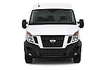 Car photography straight front view of a2015 Nissan NV 400 Business 4 Door Cargo Van Front View