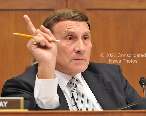 "Washington, D.C. - October 7, 2008 -- United States Representative John L. Mica (Republican of Florida) questions a witness during the United States House Committee on Oversight and Government Reform hearing on ""The Causes and Effects of the AIG Bailout"" in the Rayburn House Office Building on Tuesday, October 7, 2008..Credit: Ron Sachs / CNP.(RESTRICTION: NO New York or New Jersey Newspapers or newspapers within a 75 mile radius of New York City)"