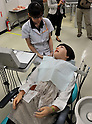 "June 29th, 2011, Tokyo, Japan - Hanako Showa 2, a robotic dental patient, shows realistic reactions and movements. It was developed by Showa University, Waseda University and Kogakuin Univeristy. They are corabolating  with Japanese robot maker tmsuk.  The robot is used for training dentists with her unique ability to follow verbal instructions from dentists. She reacts like a human as saying ""Ouch! It hurts!"" (Photo by Natsuki Sakai/AFLO)"