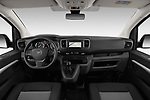 Stock photo of straight dashboard view of a 2020 Opel Vivaro Innovation 4 Door Combi