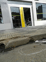 SÃO PAULO - SP -  06 DE JANEIRO 2013. -Explosão de Caixa Eletrônico na Rodovia Anchieta, 1596 - Moinho Velho - zona sul, na madrugada deste sabado(05). FOTO: MAURICIO CAMARGO / BRAZIL PHOTO PRESS.
