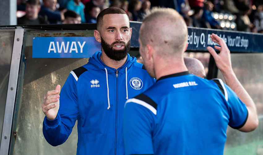 Ex-Bolton Wanderers' player  Aaron Wilbraham <br /> <br /> Photographer Andrew Kearns/CameraSport<br /> <br /> The Carabao Cup First Round - Rochdale v Bolton Wanderers - Tuesday 13th August 2019 - Spotland Stadium - Rochdale<br />  <br /> World Copyright © 2019 CameraSport. All rights reserved. 43 Linden Ave. Countesthorpe. Leicester. England. LE8 5PG - Tel: +44 (0) 116 277 4147 - admin@camerasport.com - www.camerasport.com
