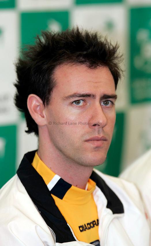 Photo: Tom Ross. .Great Britain v Serbia & Montenegro. Davis Cup, Glasgow. 6/04/2006. .Serbia & Montenegro team captain, Dejan Petrovic.