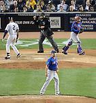 Daisuke Matsuzaka (Mets), Derek Jeter (Yankees),<br /> MAY 13, 2014 - MLB :<br /> Pitcher Daisuke Matsuzaka of the New York Mets reacts after getting Derek Jeter of the New York Yankees to strike out swinging in the sixth inning during the Major League Baseball game at Yankee Stadium in Bronx, New York, United States. (Photo by AFLO)