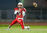 Lawndale, CA 09/26/14 - Sauileao Torres (Lawndale #5) in action during the Palos Verdes Peninsula vs Lawndale CIF Varsity football game at Lawndale High School.  Lawndale defeated Peninsula 42-21