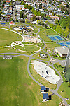 Skate park, walking paths, playground, and tennis courts in Seattle's Jefferson Park