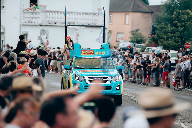 The publicity caravan passes by before the race during Stage 14 of the 2019 Tour de France running 117.5km from Tarbes to Tourmalet Bareges, France. 20th July 2019.<br /> Picture: ASO/Thomas Maheux | Cyclefile<br /> All photos usage must carry mandatory copyright credit (© Cyclefile | ASO/Thomas Maheux)
