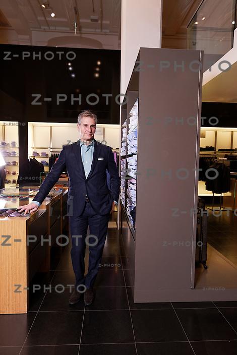 Portrait und Interview von Pierre Brunschwig CEO von Bon Genie im Kaufhaus Grieder an der Bahnhofstrasse in Zuerich am 15. Januar 2013..Copyright © Zvonimir Pisonic