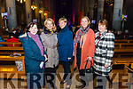 l-r Carlem O'Sullivan from Killarney, Sheila, Kathleen and Margaret Morrissey from Kilcummin and Breda Clifford from Killorglin pictured at the Liam Lawton Concert in aid of Kilcummin National School in the Killarney Cathedral last Sunday night.