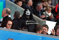 A fan dressed as the grim reaper on Halloween during the Barclays Premier League match between Swansea City and Arsenal played at The Liberty Stadium, Swansea on October 31st 2015