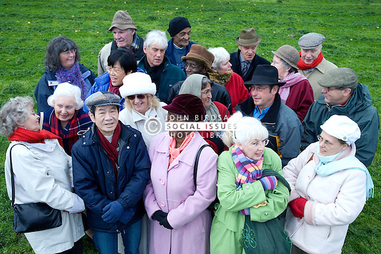 Multiracial group of older people,