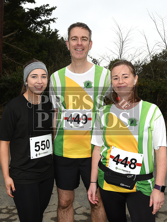 Shauna Markey, Ian and Corinna Smith who took part in the Noel Carroll 10k race at Annagassan. Photo:Colin Bell/pressphotos.ie