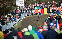 Michael Vanthourenhout (BEL) leading the race)<br /> <br /> Men U23 race<br /> <br /> 2015 UCI World Championships Cyclocross <br /> Tabor, Czech Republic