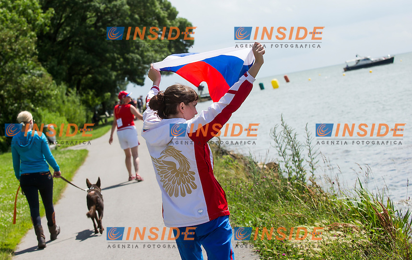 Russian Audience<br /> Hoorn, Netherlands <br /> LEN 2016 European Open Water Swimming Championships <br /> Open Water Swimming<br /> Men's 5km<br /> Day 02 12-07-2016<br /> Photo Giorgio Perottino/Deepbluemedia/Insidefoto