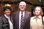 Eileen and John Clarke and Susan McKeever from Slane at the dinner in the Ardboyne Hotel to mark John Bruton's thirty years in politics..Picture Paul Mohan Newsfile