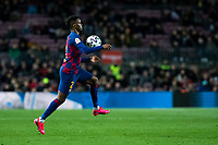 30th January 2020; Camp Nou, Barcelona, Catalonia, Spain; Copa Del Rey Football, Barcelona versus Leganes; Nelson Semedo of FC Barcelona brings down a high ball on his chest