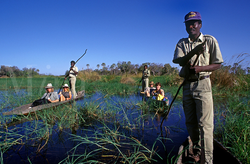 Gliding through the water in a MOKORO (hollowed out log boat) is a wonderful way to explore the OKAVANGO DELTA - BOTSWANA