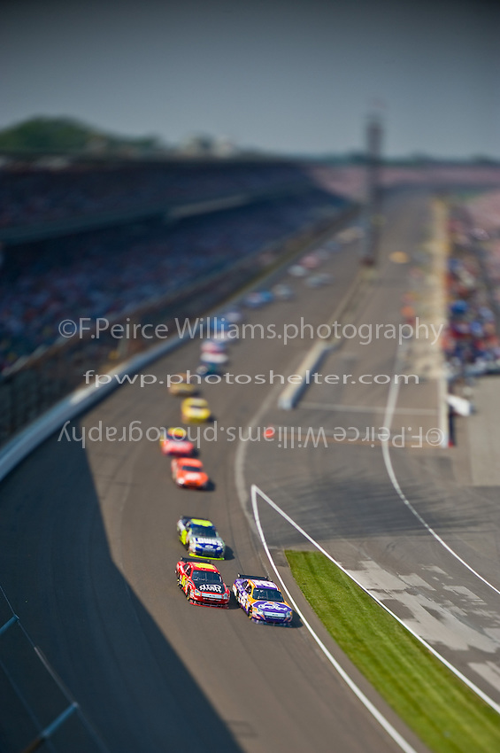 25-27 July 2008, Indianapolis, Indiana USA.Jamie McMurray (26) and Greg Biffle (16) lead into turn one..©F.Peirce Williams 2008, USA.F. Peirce Williams.photography