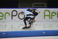 SCHAATSEN: HEERENVEEN: IJsstadion Thialf 05-02-2016, Topsporttraining en wedstrijd, Mathias Vosté (BEL), ©foto Martin de Jong