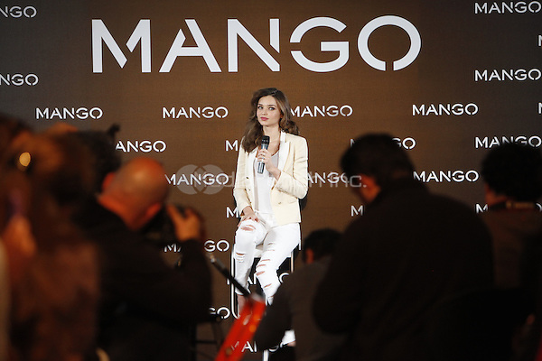MADRID, SP - DECEMBER 11: Model Miranda Kerr announced as the new Face of Mango at the Villamagna Hotel in Madrid, Spain. December 11, 2012. Credit: ALTERPHOTOS/NortePhoto/MediaPunch Inc. ***FOR USA ONLY***