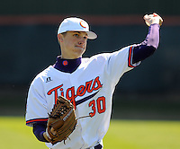 Clemson LHP Will Lamb (30) prior to a game between the Charlotte 49ers and Clemson Tigers Feb. 22, 2009, at Doug Kingsmore Stadium in Clemson, S.C. (Photo by: Tom Priddy/Four Seam Images)