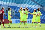 Japan Women's team group (JPN), <br /> MARCH 6, 2015 - Football / Soccer : <br /> Algarve Women's Football Cup 2015 Group C match <br /> between Japan - Portugal <br /> at Algarve Stadium in Faro, Portugal. <br /> (Photo by YUTAKA/AFLO SPORT)[1040]